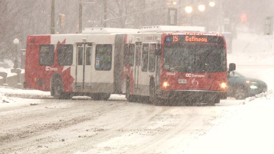OC Transpo bus snow