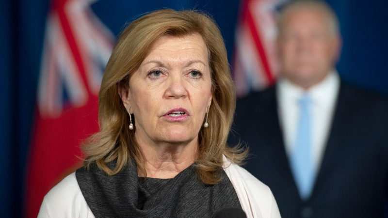 Ontario Health Minister Christine Elliott answers questions at the daily briefing at Queen's Park in Toronto on Tuesday November 17, 2020. THE CANADIAN PRESS/Frank Gunn