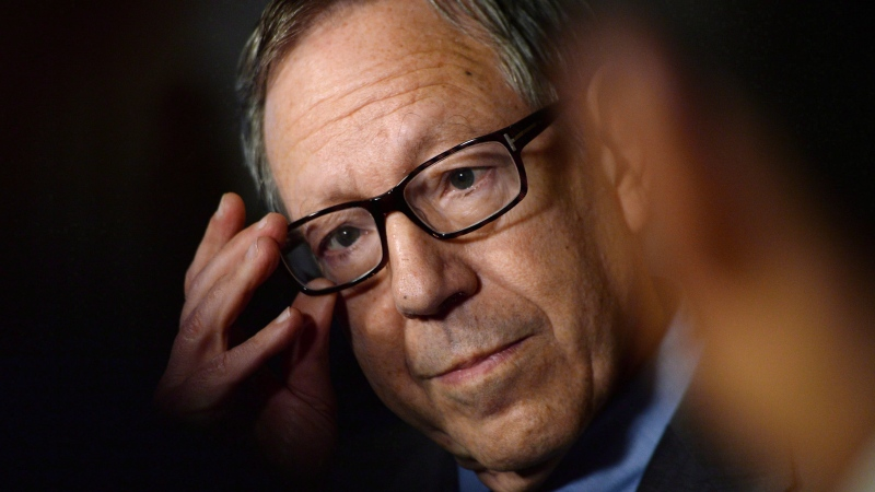 then-Liberal MP Irwin Cotler holds a press conference in the foyer of the House of Commons in Ottawa on March 26, 2015. THE CANADIAN PRESS/Sean Kilpatrick