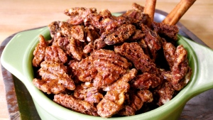 ATCO Blue Flame Kitchen, maple spiced pecans