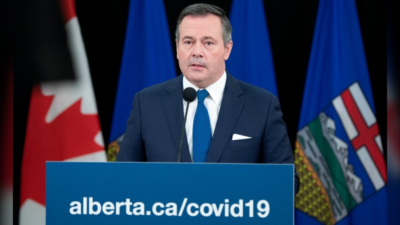 Premier Jason Kenney introduced new restrictions to reduce the spread of COVID-19 on Monday, Nov. 24, 2020. (Chris Schwarz/Government of Alberta)