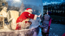 A Denmark zoo has figured out a way for Santa to greet visitors and their families while staying safe from COVID-19.