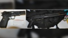 Police say they found a loaded handgun under the car seat of a man who was wearing an empty shoulder holster: (Campbell River RCMP)