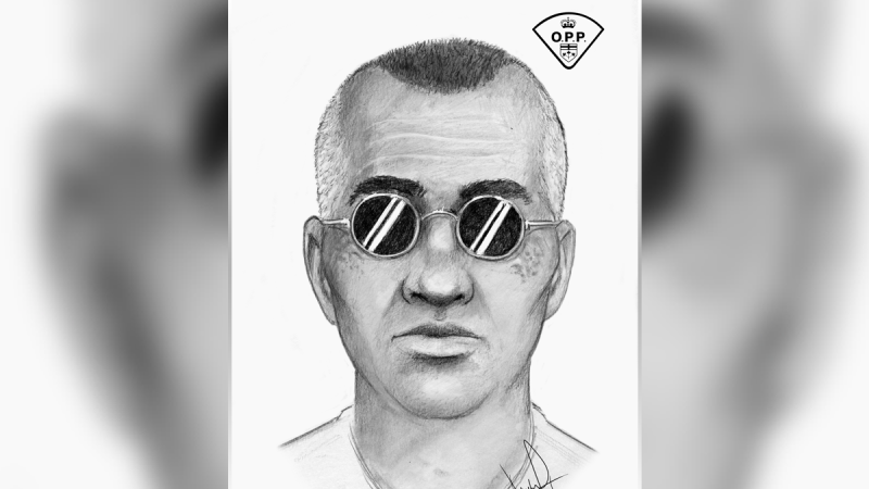 A composite sketch of a man suspected of trying to pull a child into his SUV near March Road and Second Line Road in Kanata on Nov. 6, 2020. (Photo supplied by the Ottawa Police Service)