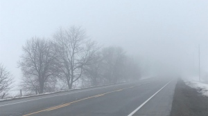 Fog develops in Waterloo Region (Dan Lauckner / CTV News Kitchener)