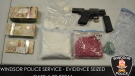 Police seized a loaded gun, fentanyl, cocaine and crack cocaine. (Courtesy Windsor police)