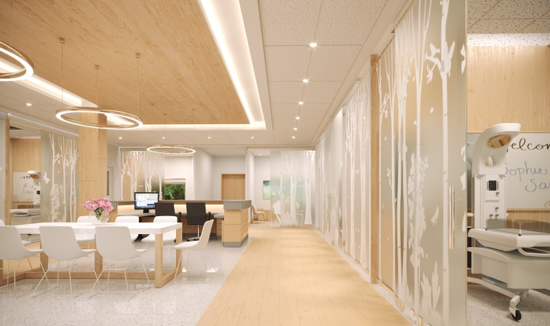 A conceptual image of the expanded neonatal intensive care unit at the Victoria Hospital.