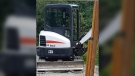 The owner of the excavator believes the machine was stolen between Nov. 12 and Nov. 14: (Nanaimo RCMP)