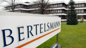 This March 13, 2003 file photo shows an exterior view of the German media giant Bertelsmann in Guetersloh, Germany. (AP Photo/Michael Sohn, file)
