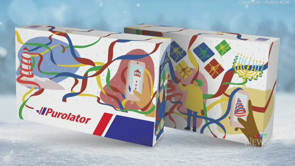 Connecting all corners of Canada was what inspired artist Elana Camille, who designed Nova Scotia's festive box.