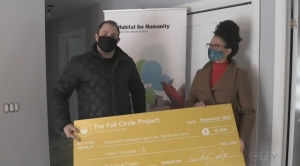 A donation of $25,000 from a local business will allow Habitat for Humanity in the Sault to finish building a home started in the summer.