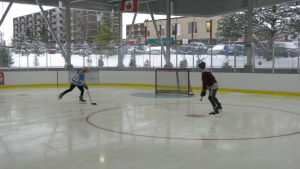 Players hit the ice at the Jim Tubman Chevrolet Sens Rink in Ottawa  (Jeremie Charron/CTV News Ottawa)