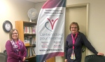 Pictured are Mireille Charlebois, right, communications officer at Centre Victoria pour Femmes, and Gaetane Pharand, executive director of the Centre Victoria pour Femmes. (Alana Everson/CTV News)