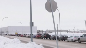 Sask. drive-thru testing sites backed up