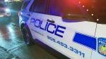 A Peel Regional Police cruiser is seen at the scene of a triple stabbing on Nov. 25, 2020.