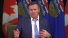 Premier Kenney takes questions about Alberta's coronavirus response on Facebook. Nov. 25, 2020 (Source: Facebook)