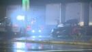 Regional Police were on scene of a single-vehicle crash in Kitchener Wednesday night.