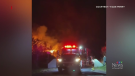 Overnight fire destroys Shediac, N.B. warehouse