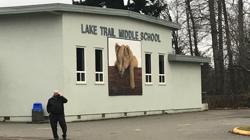 Lake Trail Community Middle School is closed to all students and staff Thursday. (CTV News)