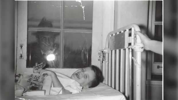 Three-year-old David Onley is visited by his grandfather in 1953. (David Onley)