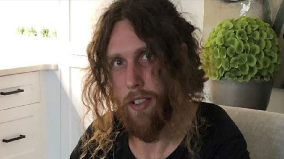 Sean Hart is described as a white man standing 6' tall. He is very thin, with blue eyes, long curly reddish-brown hair and was last seen dressed in black. (Saanich police)