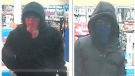 An image of two suspects police say were involved in a convenience store robbery in Newmarket on November 24, 2020 (Courtesy York Regional Police)