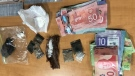 Items seized by Essex County OPP officers after a search warrant was executed at a Leamington, Ont. address. (courtesy Essex County OPP)