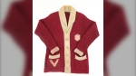 A piece of hockey history is up for sale, with a rare Vancouver Millionaires sweater, seen in an undated handout photo, hitting the auction block. The cream and maroon wool cardigan is believed to have belonged to Hall of Fame goalie Hugh Lehman, who backstopped the Millionaires to a Pacific Coast Hockey Association championship in 1922-23. THE CANADIAN PRESS/HO-Lelands Auction, *MANDATORY CREDIT*
