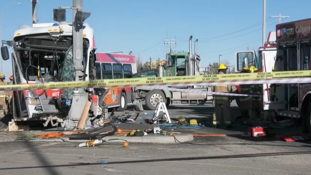 Calgary Transit bus crash