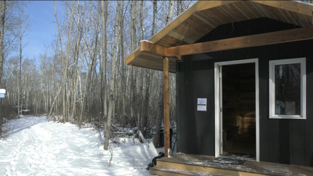 A new ski chalet was constructed at the Preeceville Lions Family Trail. (Kaylyn Whibbs/CTV News)