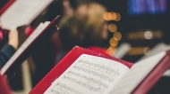 A holiday music book is seen in this file image. (Unsplash)