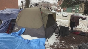 After two weeks the second tent city set up at North Bay city hall received an eviction notice with only a few hours to pack up and move off