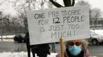 Families protest CHSLD understaffing