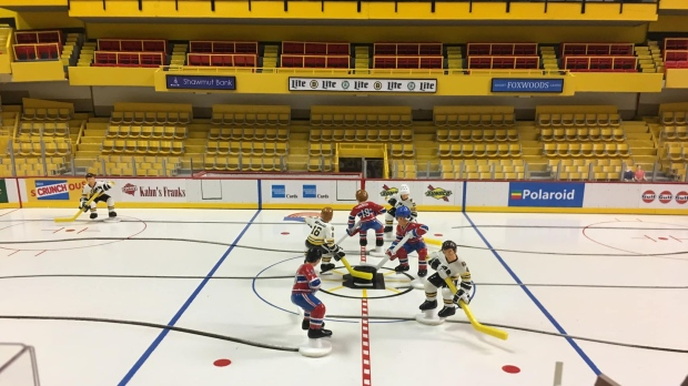 'It borders on insanity': Edmonton man builds iconic NHL arena table hockey game