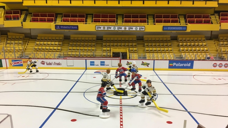 Trent Buhler created a miniature table hockey version of the iconic Boston Garden. (Provided image)