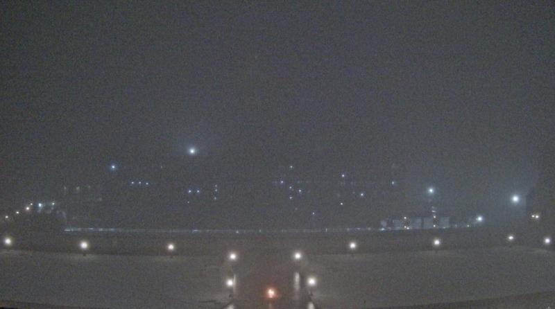 A look at downtown Ottawa from the Parliament Hill camera on a foggy Thursday night. (Photo courtesy: www.tpsgc-pwgsc.gc.ca)