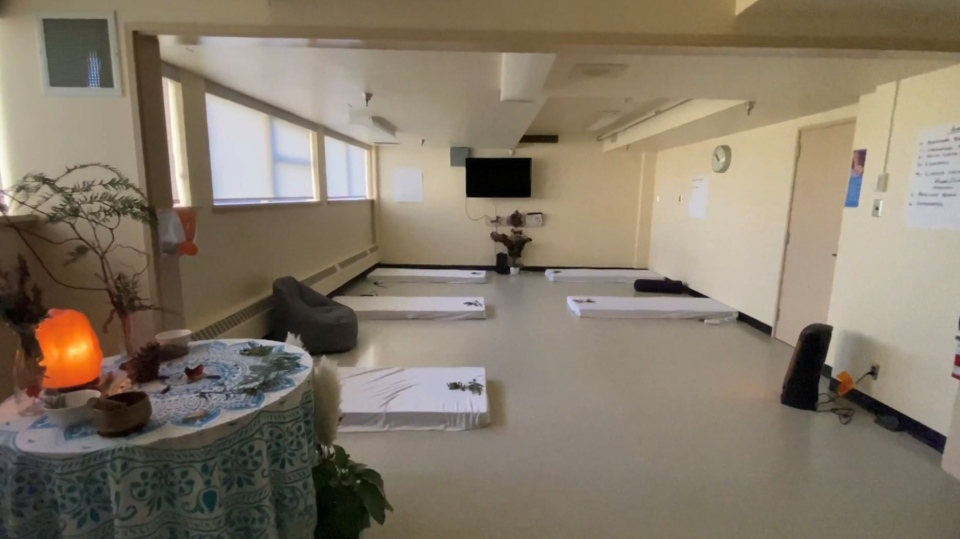 A therapy room at Ladysmith Healthcare Centre is shown: (Ladysmith Healthcare Centre)