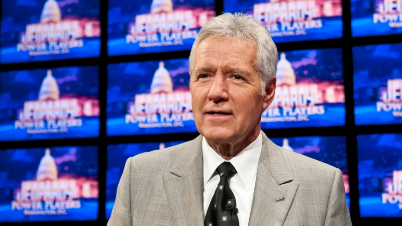 "Alex Trebek, the late host of the long-running game show ""Jeopardy!,"" had a Thanksgiving message for viewers, urging them to ""be thankful"" and ""keep the faith."" (Kris Connor/Getty Images)"