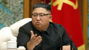 In this Nov. 15, 2020, file photo provided by the North Korean government, North Korean leader Kim Jong Un attends a meeting of the ruling Workers' Party Politburo in Pyongyang, North Korea. (Korean Central News Agency/Korea News Service via AP, File)