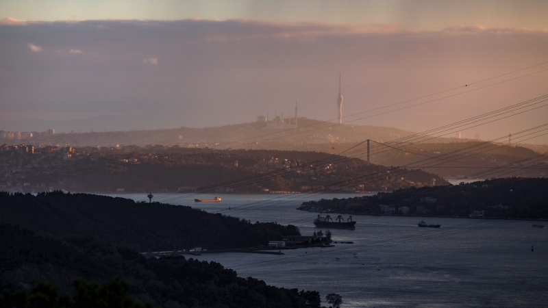 A view of Istanbul, Friday, Nov. 20, 2020. (AP Photo/Emrah Gurel)