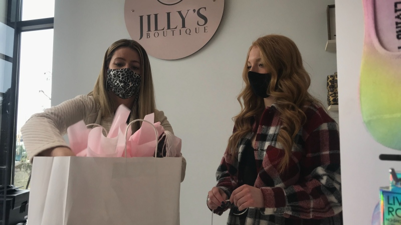 Jilly's Boutique owner Angela Ruzza is hoping people will choose to shop local this holiday season to help her business survive the pandemic.