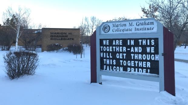 Marion M. Graham Collegiate is pictured Nov. 27, 2020. (Dale Cooper/CTV Saskatoon)