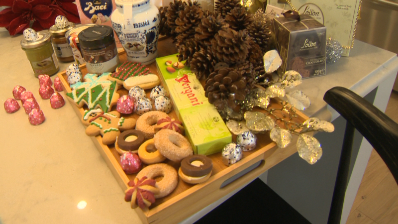Lina's Market's chef Manuel prepares holiday treats in Calbridge Home's Serenity II show home