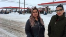 "This Jan. 23, 2019 photo released by ACLU of Montana, shows Martha ""Mimi"" Hernandez, left, and Ana Suda in Havre, Mont. (Brooke Swaney/ACLU of Montana via AP)"