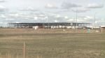 File image of the construction of the Aurora Sun cannabis facility in Medicine Hat. Aurora announced this week it had suspended operations at the facility.