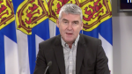 Nova Scotia Premier Stephen McNeil provides an update on COVID-19 during a news conference in Halifax on Nov. 27, 2020.