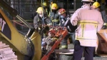 Construction worker pinned in trench collapse