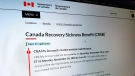 Canada Recovery Sickness Benefit (Source: Gov't of Canada website)