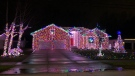 Pawlikowski family lights up their neighbourhood with holiday cheer in LaSalle, Ont. on Tuesday, Nov. 24, 2020. (Angelo Aversa/CTV Windsor)