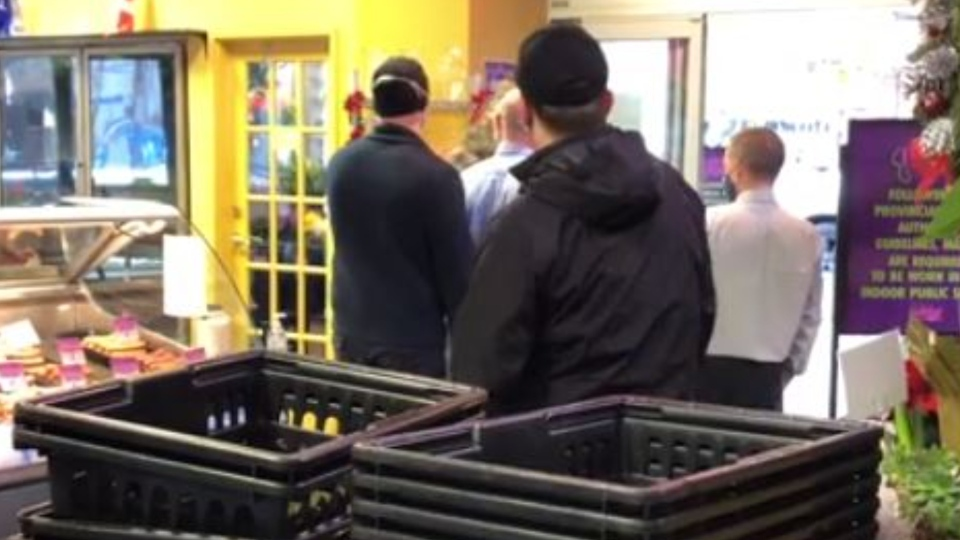 Patrol officers were called to the Market on Yates just after 10:30 a.m. Friday for reports that a man was refusing to wear a face covering in accordance with provincial COVID-19 rules. (reddit/Adamblancher)